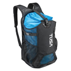 MESH BACKPACK WITH DRYBAG - BLACK