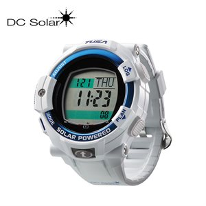 DC SOLAR LINK WATCH - WHITE / BLUE BEZEL RING