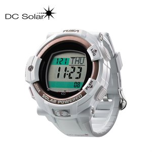 DC SOLAR LINK WATCH - WHITE / PINK GOLD BEZEL RING