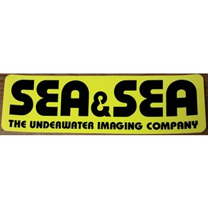 "SEA & SEA STICKER LARGE (12 1 / 2"" x 3 3 / 4"")"