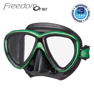 FREEDOM ONE MASK - ENERGY GREEN / BLACK SILICONE