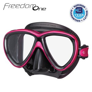 FREEDOM ONE MASK - ROSE PINK / BLACK SILICONE