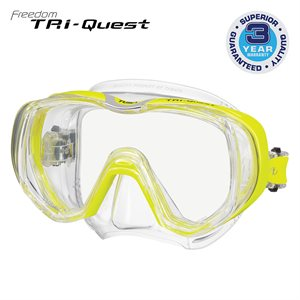TRI-QUEST 3 WINDOW MASK - FLASH YELLOW