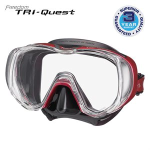 TRI-QUEST 3 WINDOW MASK - ROSE PINK / BLACK SILICONE