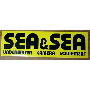 "SEA & SEA STICKER MEDIUM (8"" x 2 1 / 3"")"