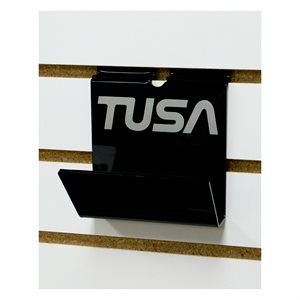 SLAT WALL MASK HOLDER BK W / TUSA LOGO