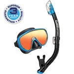 SERENE ADULT BLACK SERIES COMBO (M16.SP250) - BLACK / FISHTAIL BLUE MIRROR LENS