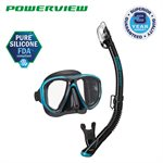 POWERVIEW ADULT DRY COMBO (UM-24 / USP-250) - BLACK / OCEAN GREEN