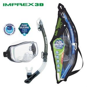 IMPREX 3D MASK & DRY SNORKEL SET (UM33 / USP250) - SMOKE