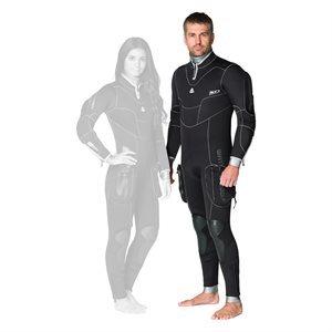 645126 SD COMBAT 7MM SEMI-DRY FULLSUIT - MALE XL / 56