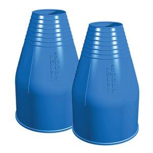 732104 SILICONE WRIST SEALS-BLUE (PAIR)