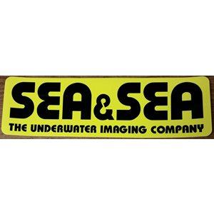 "SEA & SEA STICKER LARGE (12 1 / 2"" x 3 3 / 4"")"