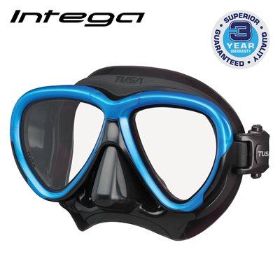 INTEGA MASK - FISHTAIL BLUE / BLACK SILICONE