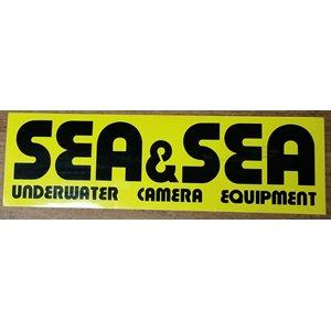 "SEA & SEA STICKER MEDIUM (8"" x 2 1 / 3"")"